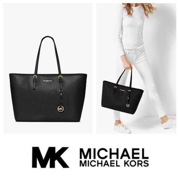95b91b46c25ff1 MICHAEL Michael Kors Bags | New Mk Jet Set Medium Saffiano Leather ...